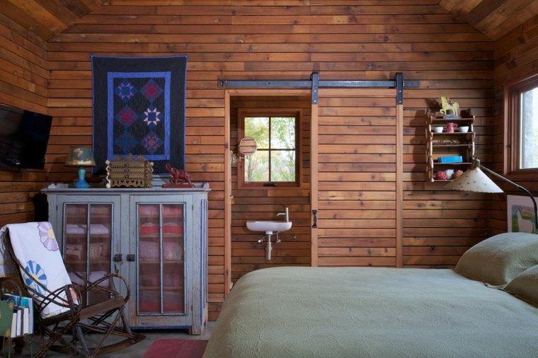 interior moderno madera puerta