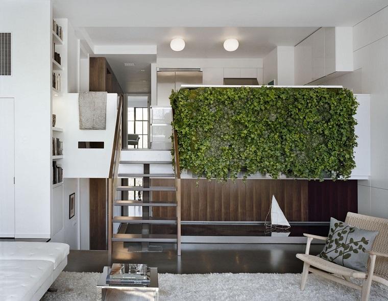 jardin vertical interiores casas modernas naturales