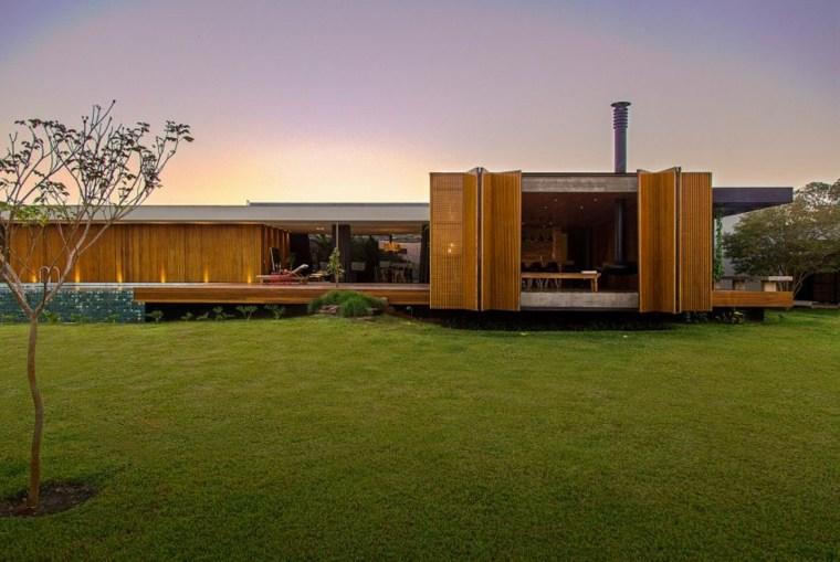 interiores de casas diseño ambientes modernos madera