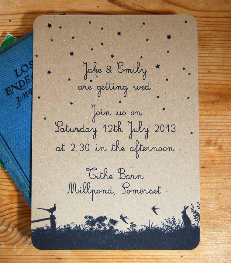 invitación de boda vintage decorar