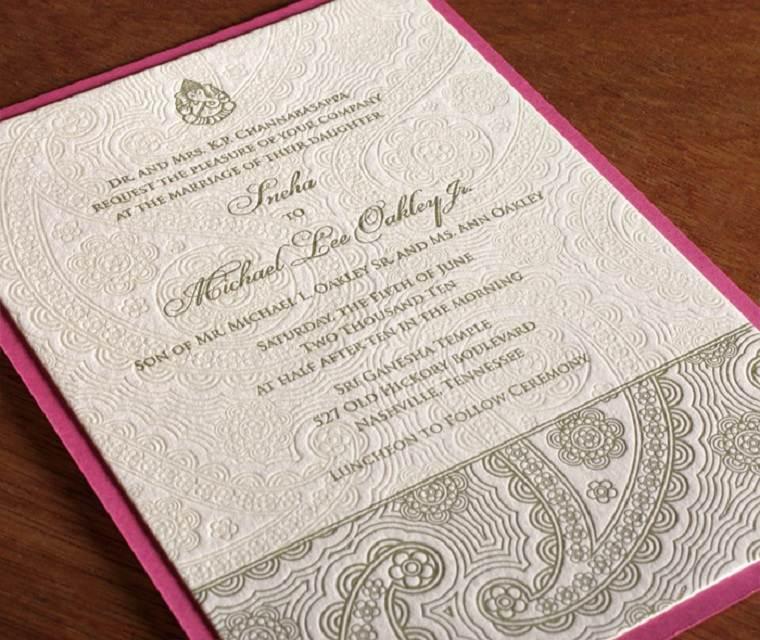 invitacion india figuras relieve texturas hojas
