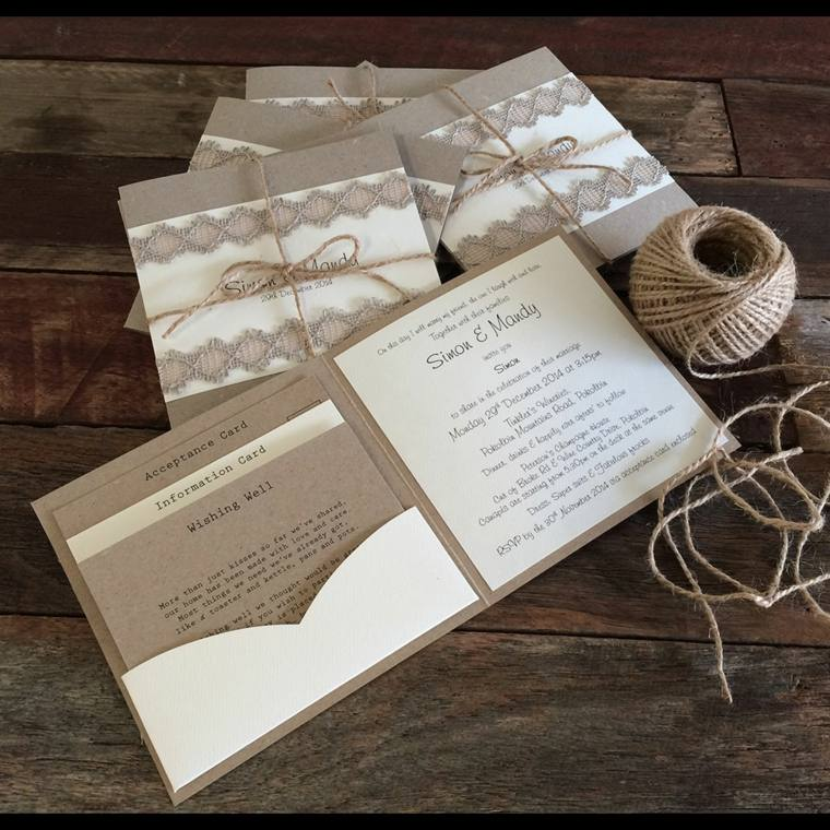 invitaciones boda vintage decorar