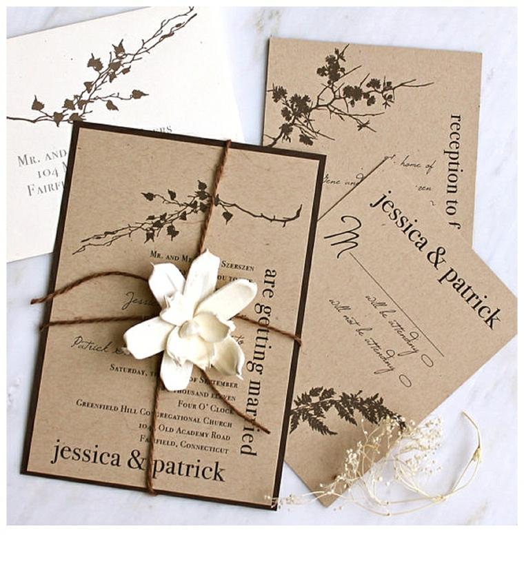 invitaciones de boda cartulina