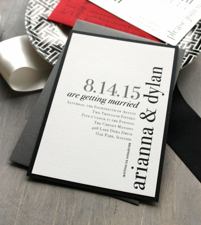 invitaciones de boda conceptos modernos tipografia