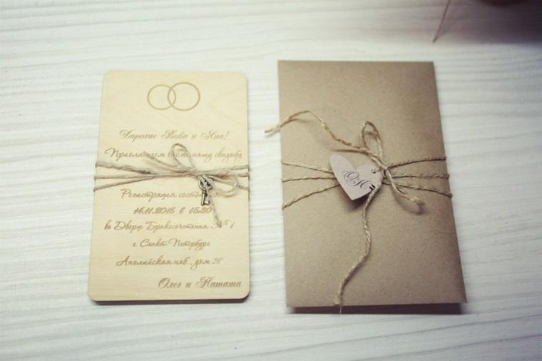 invitaciones de boda diseno rustico ideas