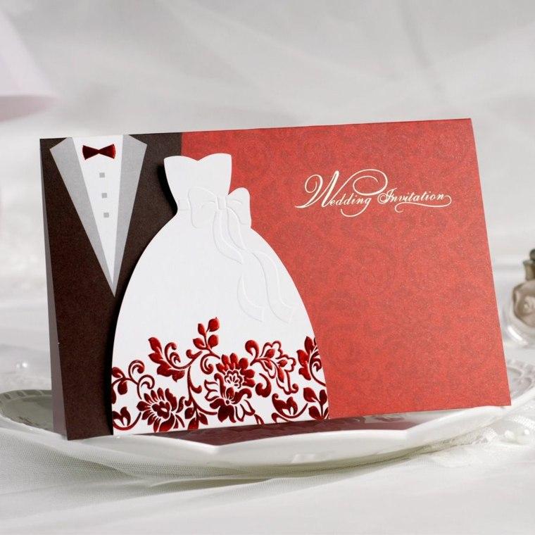 unas para vuestra boda con un diseo con los trajes de los novios with tarjetas de invitacion para boda