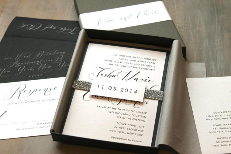 invitaciones de boda fecha unica letras