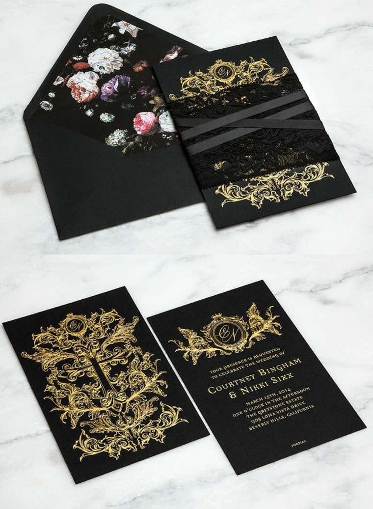 invitaciones de boda flores llamativas especiales encajes