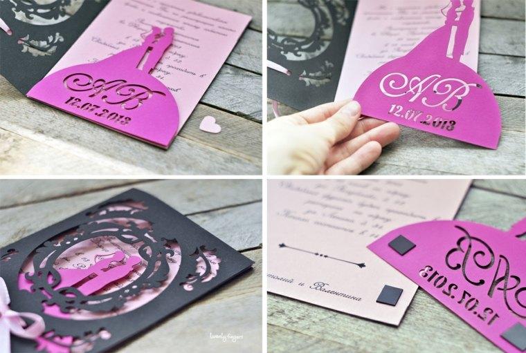 invitaciones de boda diseno tipografia original ideas