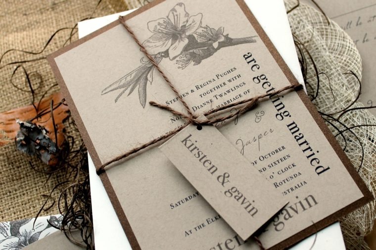 invitaciones de boda originales diseno atractivo interesante ideas