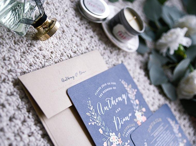 invitaciones de boda originales diseno azul oscuro ideas
