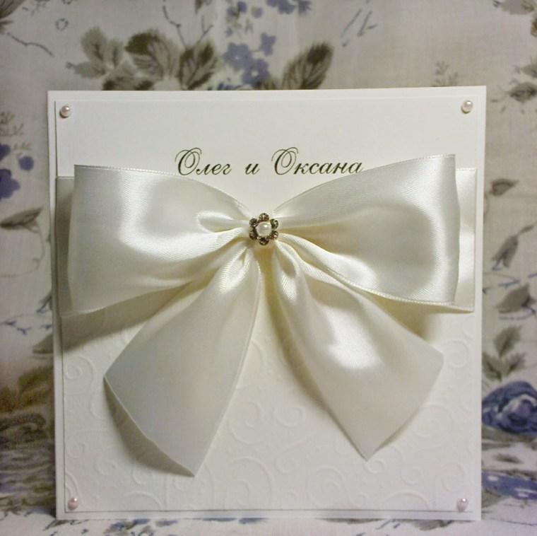 invitaciones de boda originales diseno detalle lazo blanco ideas