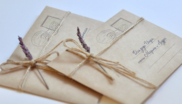 invitaciones de boda originales diseno estilo rustico ideas