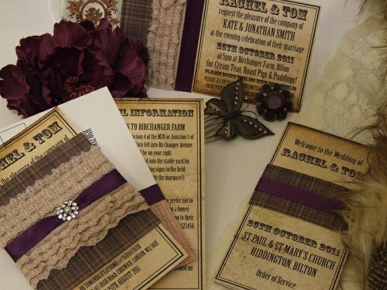 invitaciones de boda originales diseno estilo salvaje oeste ideas
