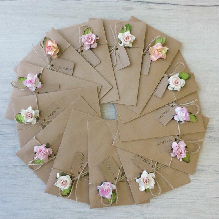 invitaciones de boda originales diseno flores detalles ideas