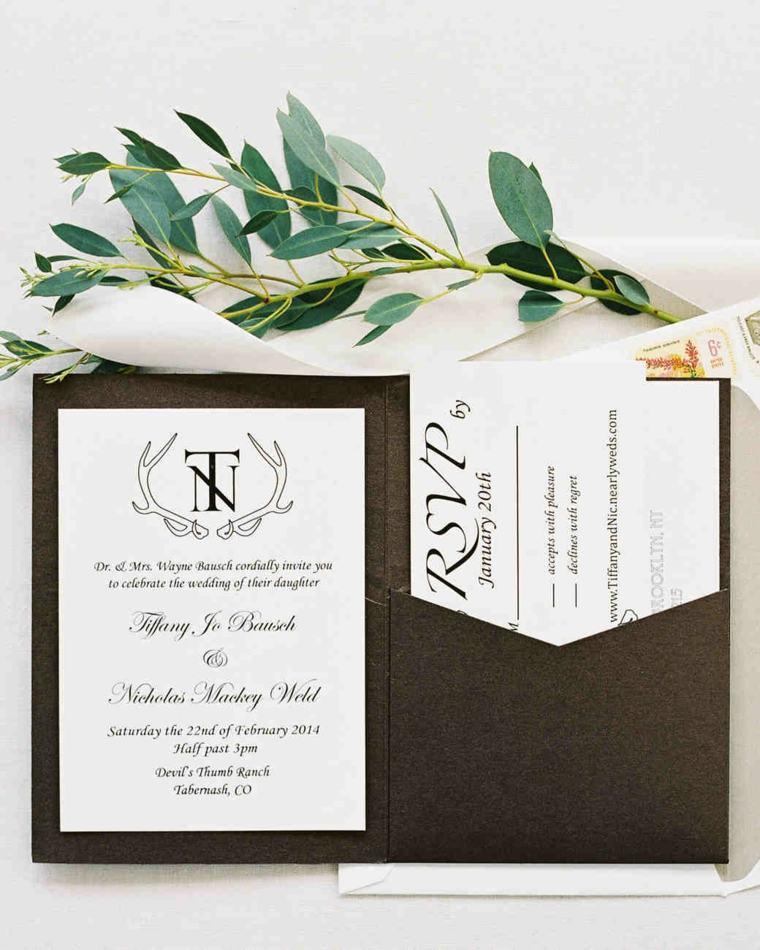 invitaciones de boda originales diseno elegante moderno ideas