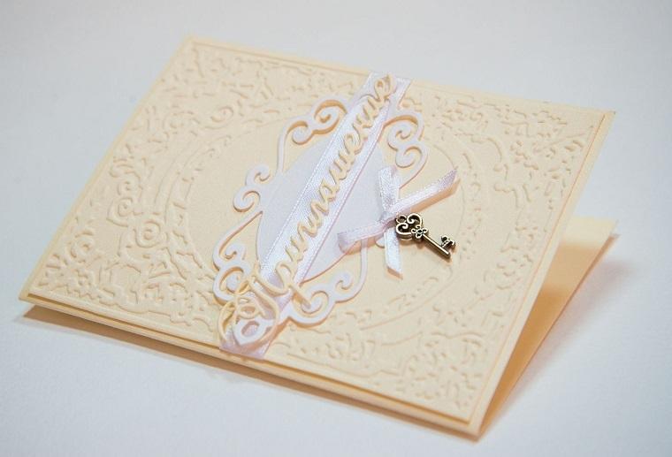invitaciones de boda originales diseno detalle llave ideas
