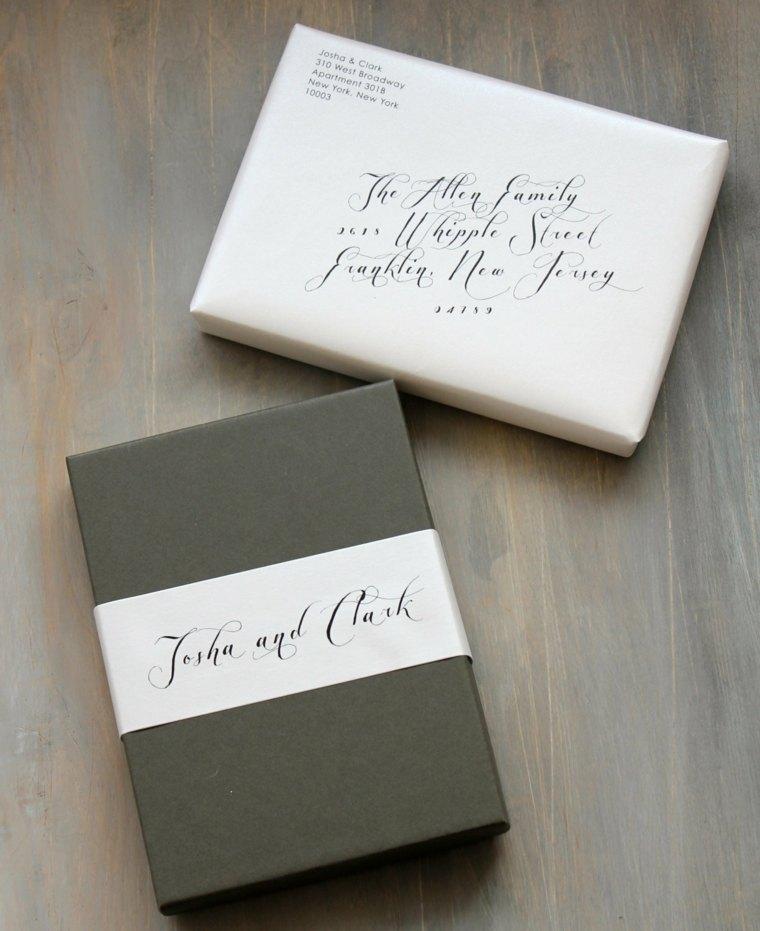 invitaciones de boda presentacion unica tipos