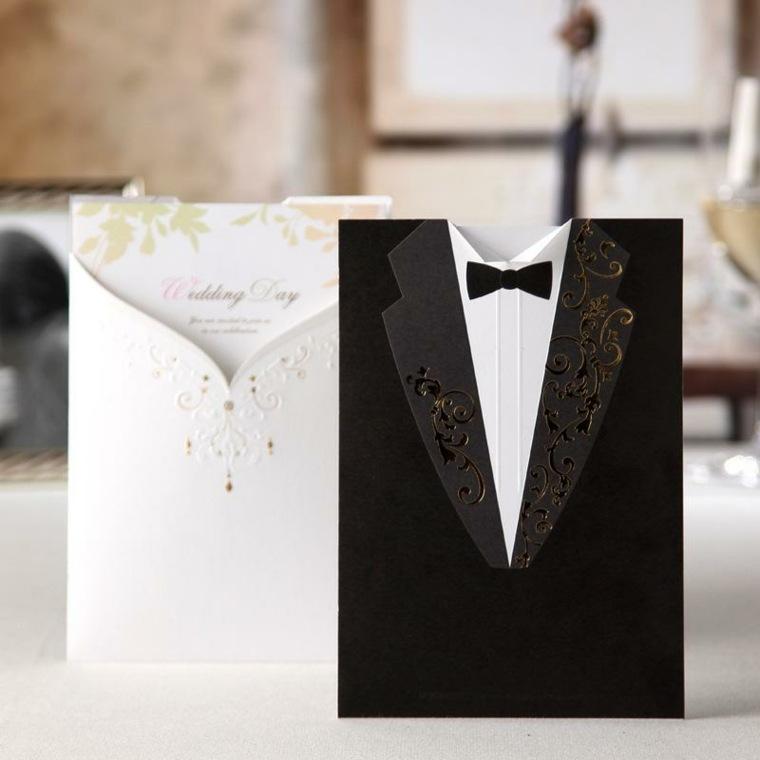 invitaciones de boda trajes