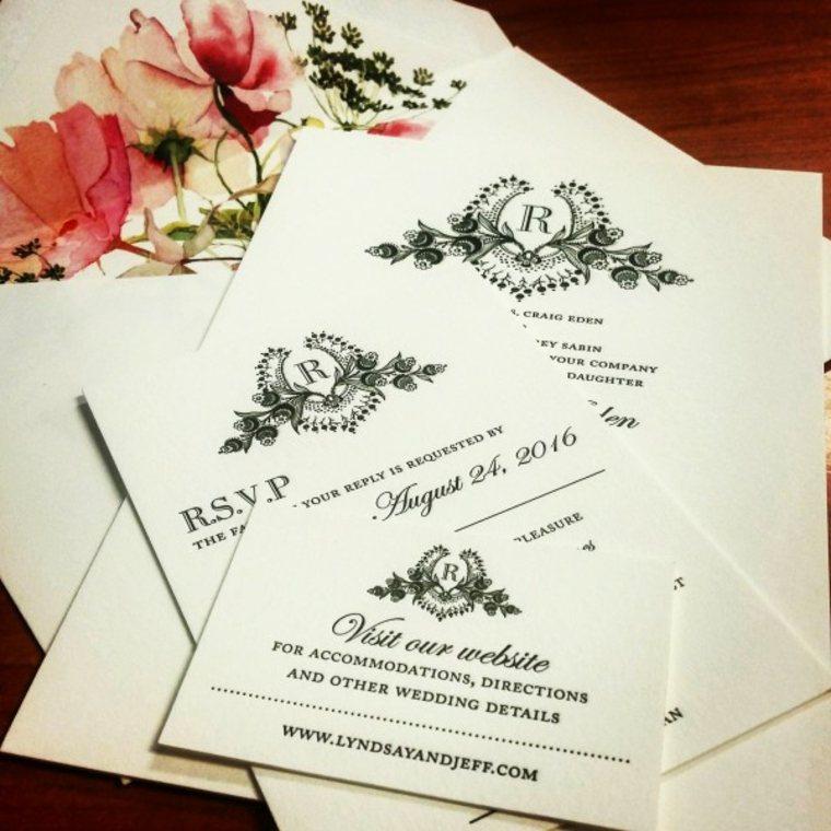 invitaciones de boda vintage boda clásica
