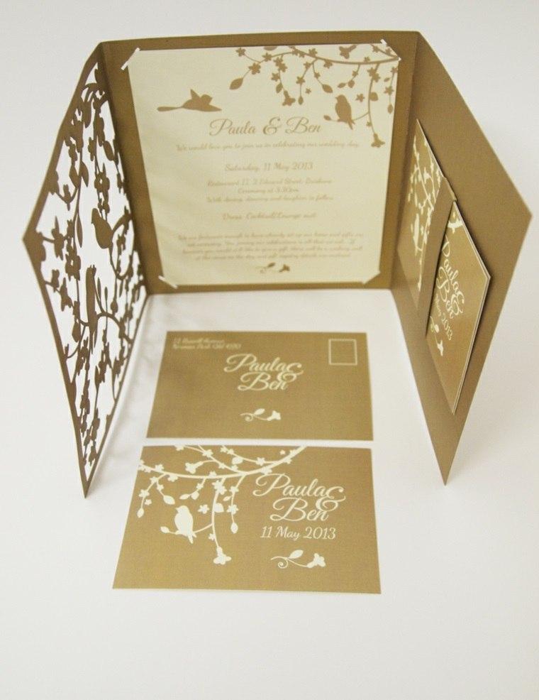 invitaciones de boda vintage boda elegante