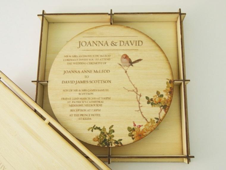 invitaciones de boda vintage boda moderna
