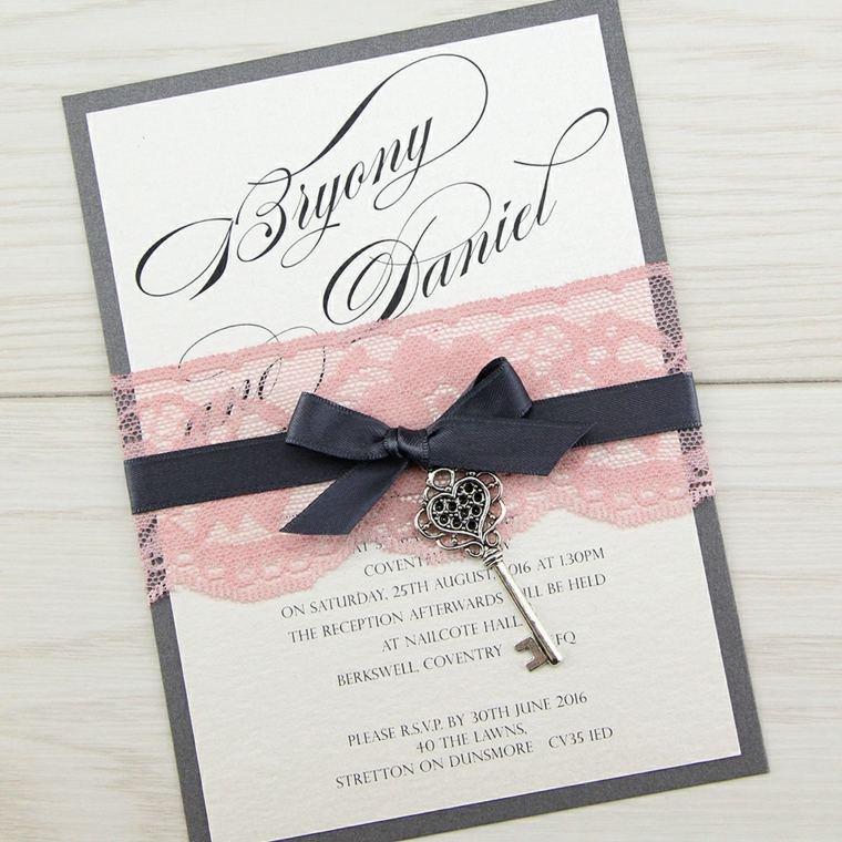 invitaciones de boda vintage decoración original