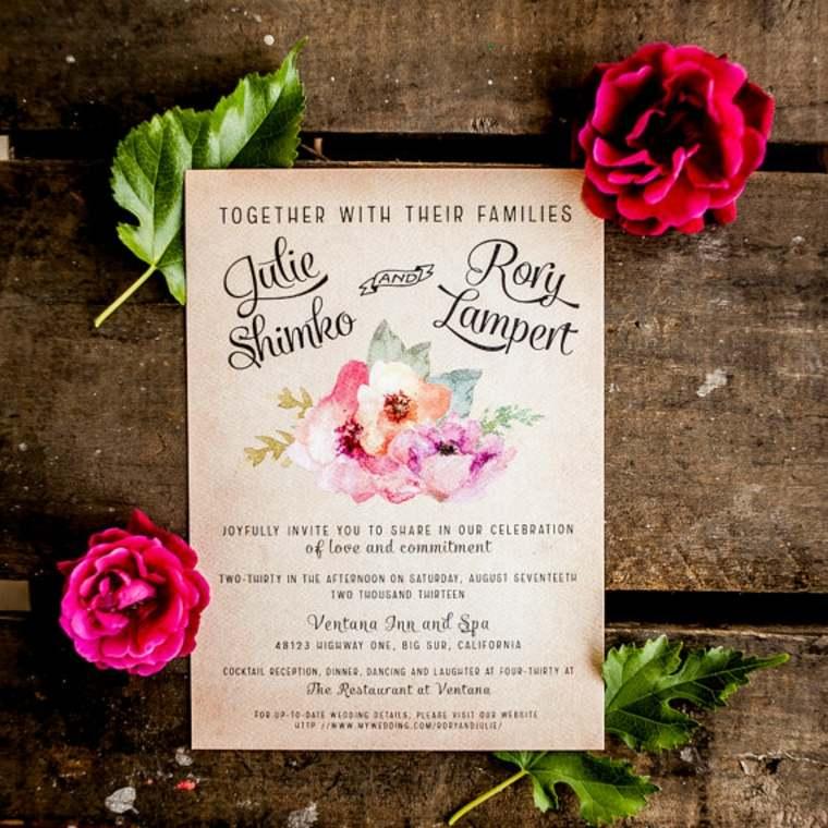 invitaciones de boda vintage decorar