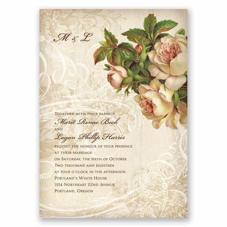 invitaciones de boda vintage modernas