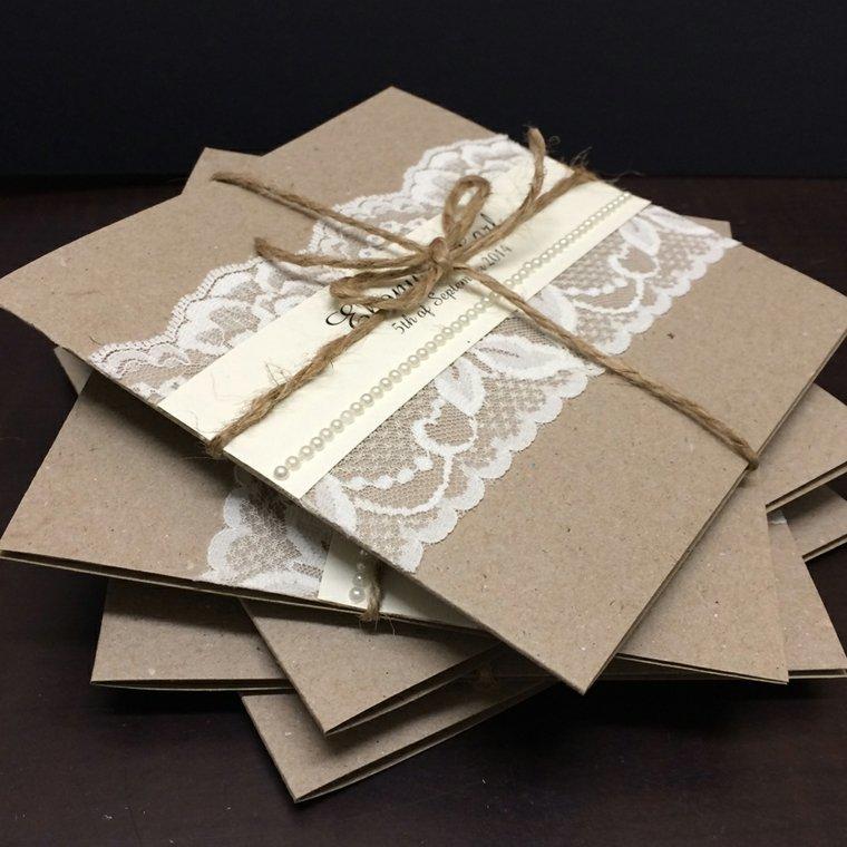 invitaciones vintage para boda decorar