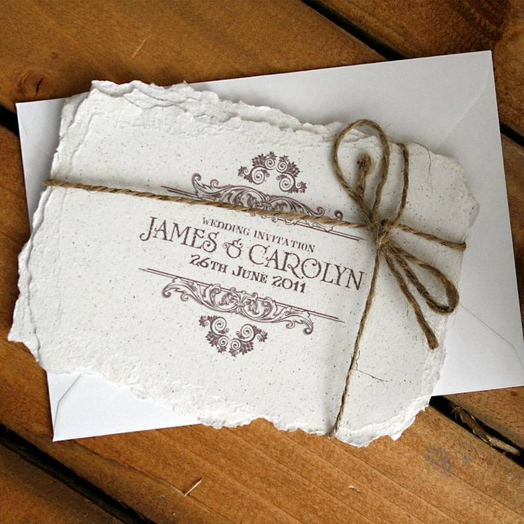 invitaicones de boda vintage decoración elegante