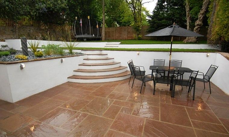 jardín moderno patio terrazas