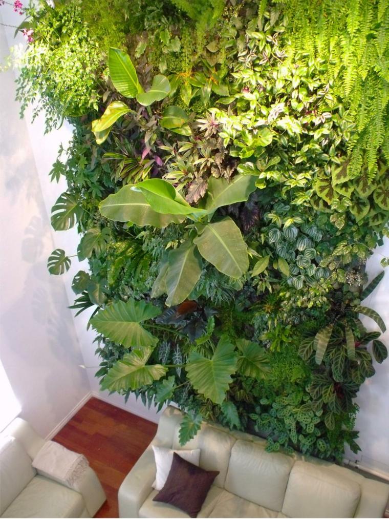 jardin vertical lineas decorativas onceptos muebles cojines