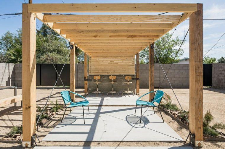 listones madera claras sillones muebles color senderos