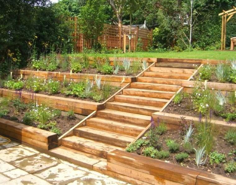 los jardines terrazas madera modernas
