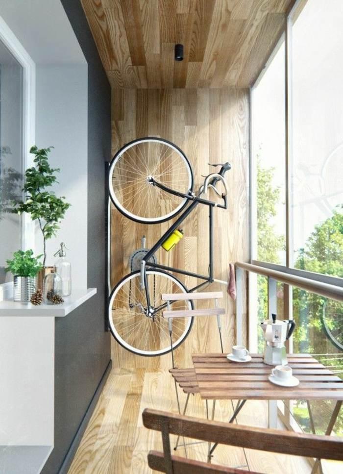 madera bicicletas colgadas muebles conceptos