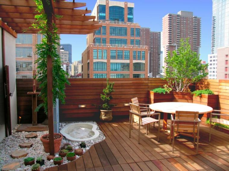 madera natural espacio colorido muebles edificios