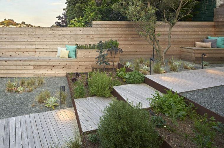 madera suelos conceptos materiales gravas escalones