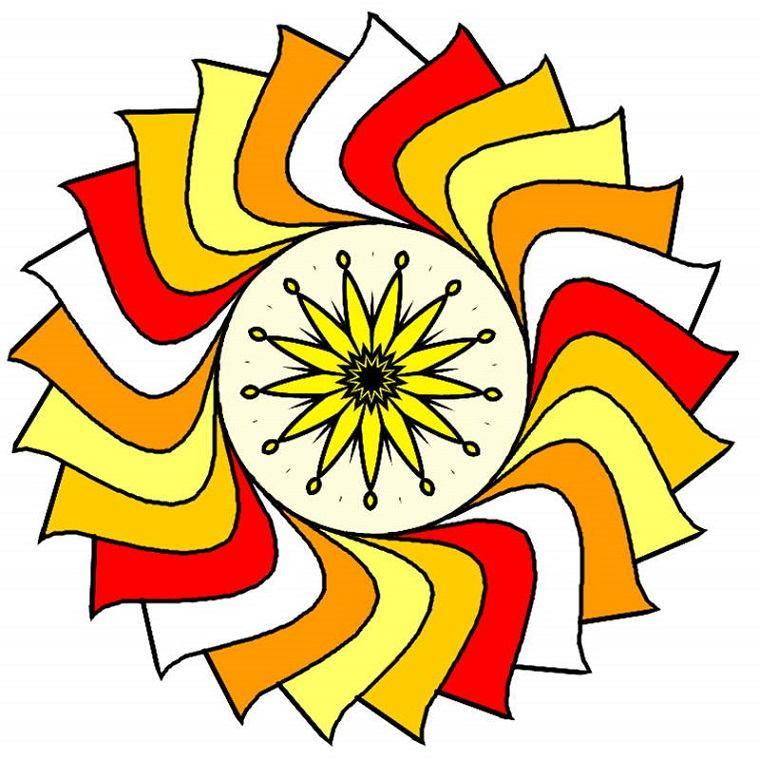 mandala forma sol