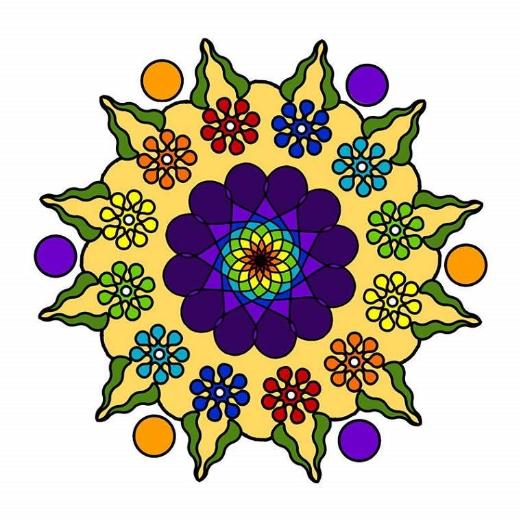 bonito Mandala flor