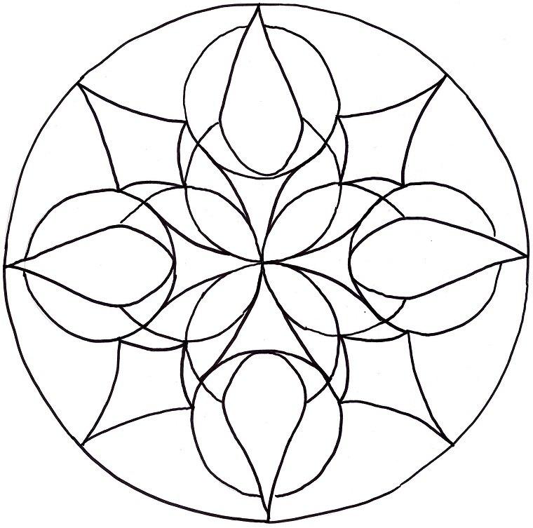 Mandala diseño sencillo