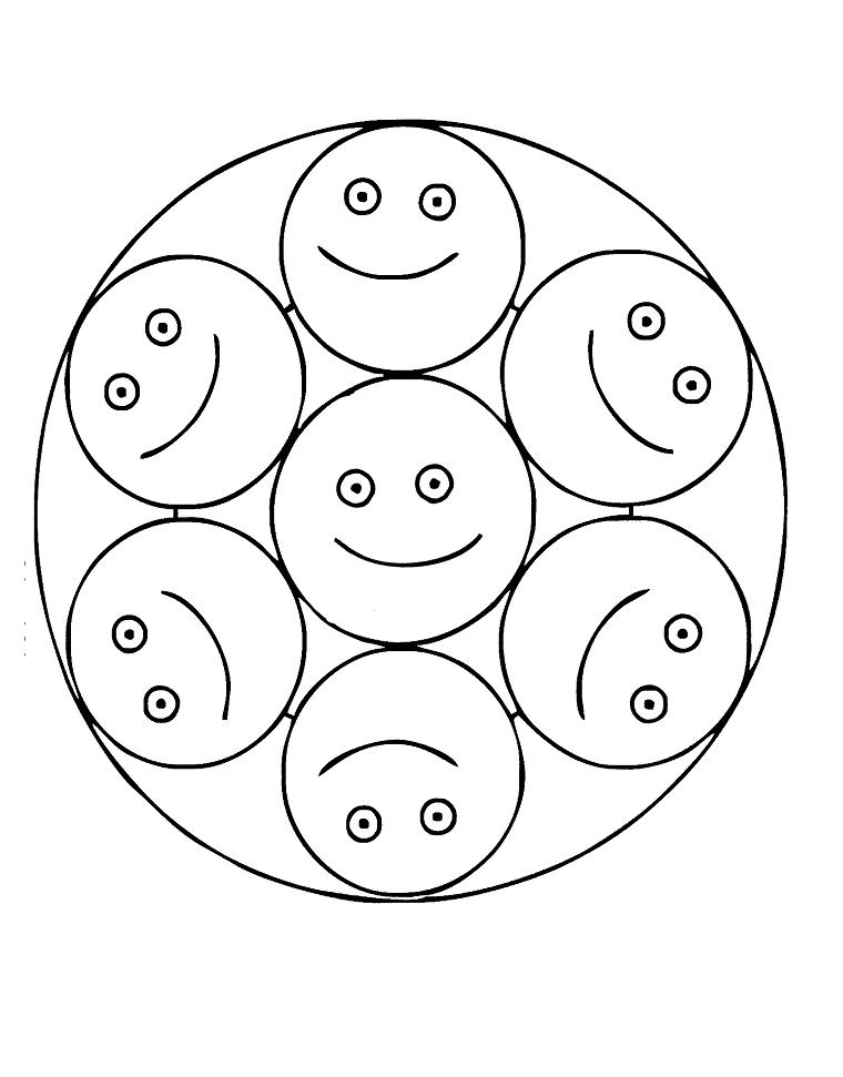 Mandala caritas sonrientes