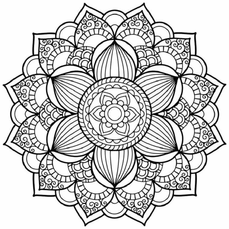 Mandala flor bonita