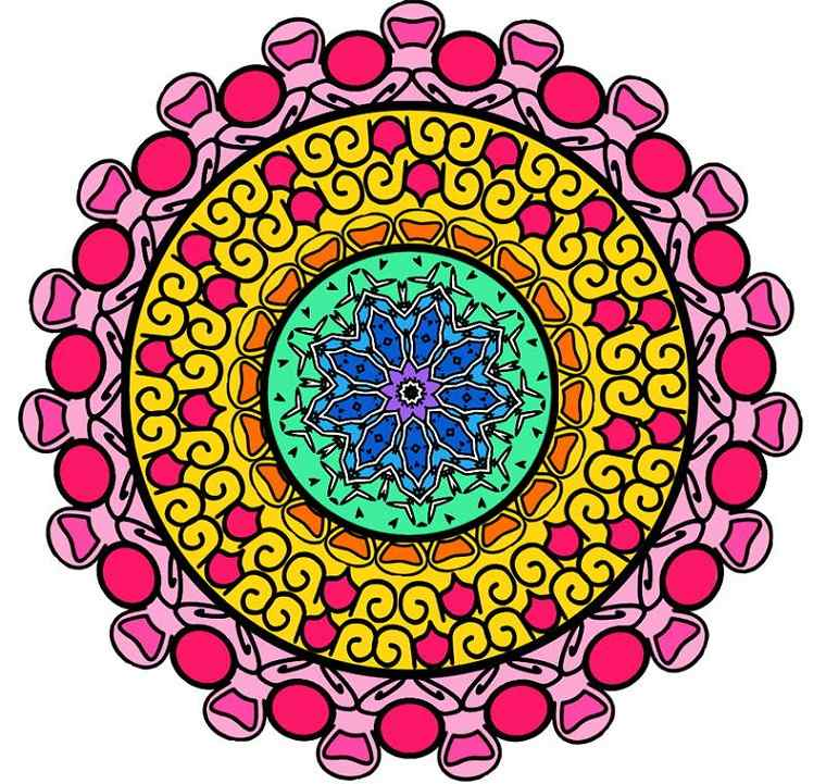 diseño Mandala complicado