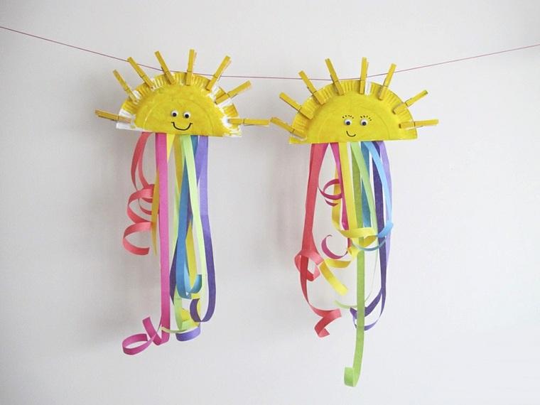 manualidades para niños diseño soles decoraciones cintas muebles