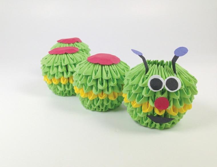 manualidades para niños oruga conceptos coloridos