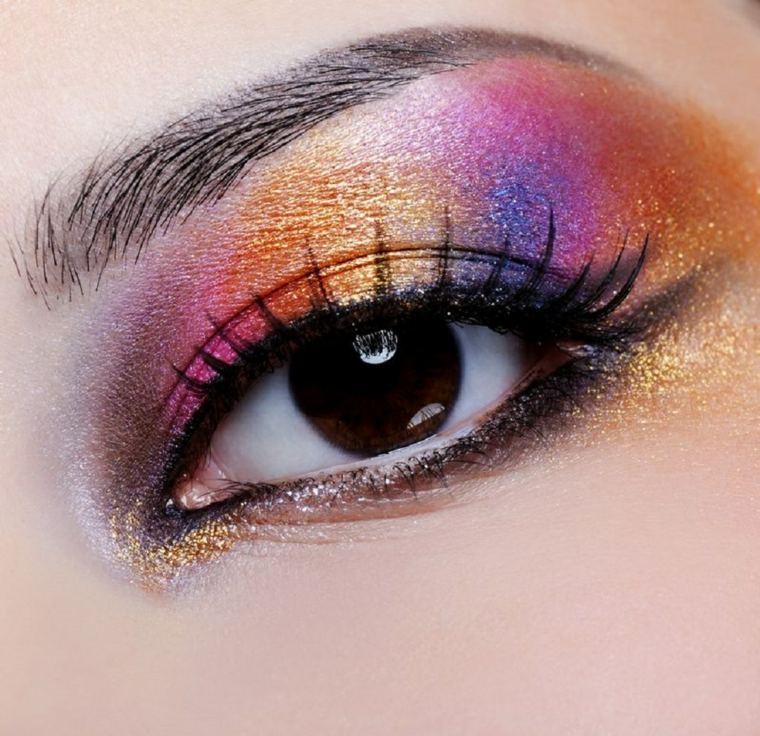 maquillaje ojos chicas elegantes