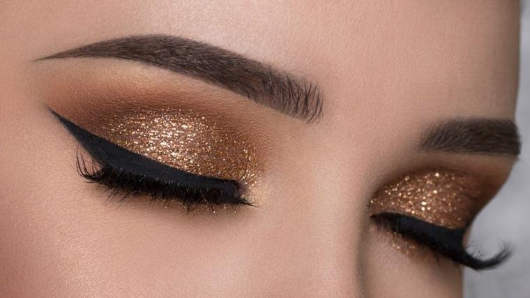 maquillaje ojos marrones mujeres