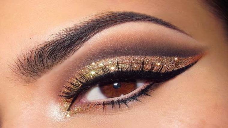 maquillaje ojos mujeres elegantes