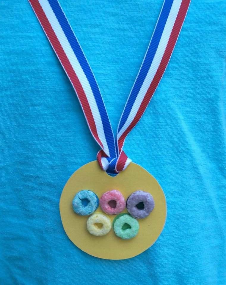 medalla olimpica especial decorada comedtibles
